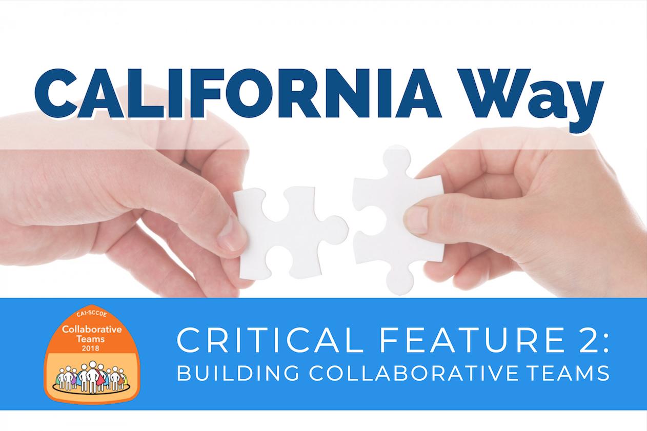 California 1 Initiative Building Collaborative Teams Course logo