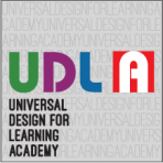 A UDLA logo with sub text Universal Design for Learning Academy
