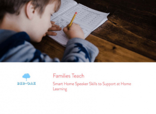 Families Teach: Smart Home Speaker Skills to Support at Home Learning