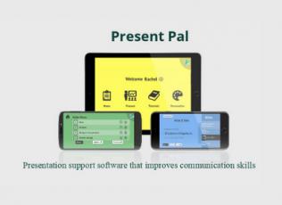 Present Pal: presentation support software that improves communication skills.