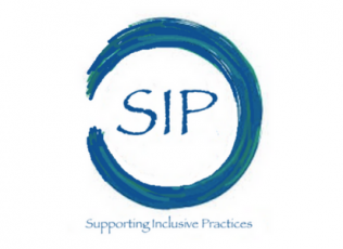 Graphic shows logo for Supporting Inclusive Practices (SIP)