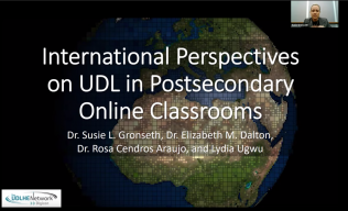 International Perspectives on UDL in Postsecondary Online Classrooms