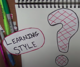 "drawing of the word ""learning style"" and a question mark"