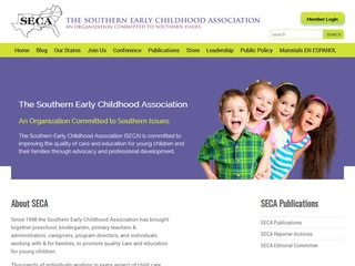 screen shot of the Southern Early Childhood Association website